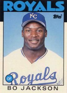 1986 Topps Bo Jackson baseball card